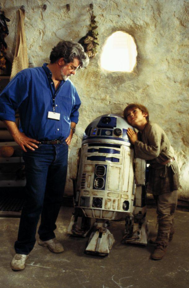 On the set of 'Star Wars: Episode I: The Phantom Menace'