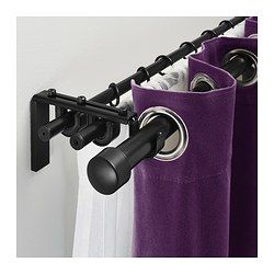 High Quality RÄCKA / HUGAD Triple Curtain Rod Combination   IKEAThe Combination Includes  4 Packages Of Wall/