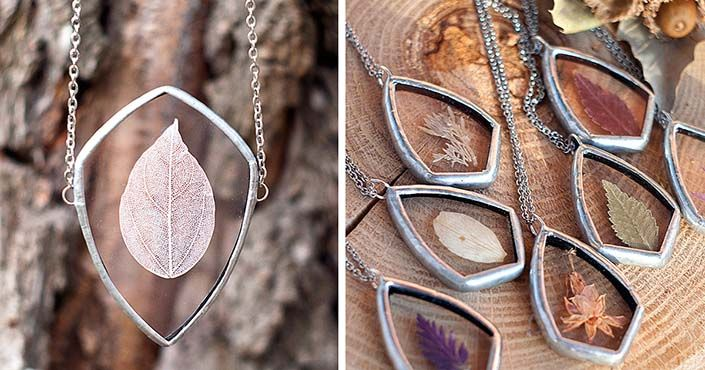 Stanislava Korobkova mení krehkú krásu prírody na krásne vintage šperky. Handmade prívesky, náhrdelníky, šperk, wild wild heart, príroda, nápad, dizajn