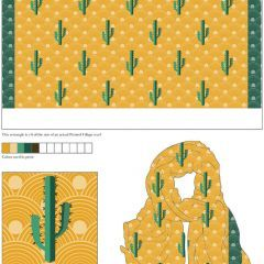 I LOVE Nahal Behrooz Marzban Moshari's Scarf Design for @PrintedVillage