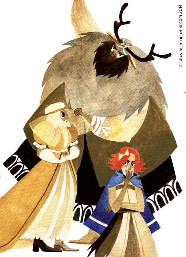 The Giant Thrym steals Thor's hammer in Storytime Issue 3. Illustration by Pauliina Hannuniemi (http://pauliinahannuniemi.com) ~ STORYTIMEMAGAZINE.COM