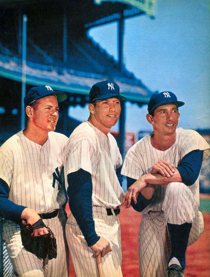 Whitey Ford, Mickey Mantle, and Billy Martin, New York Yankees
