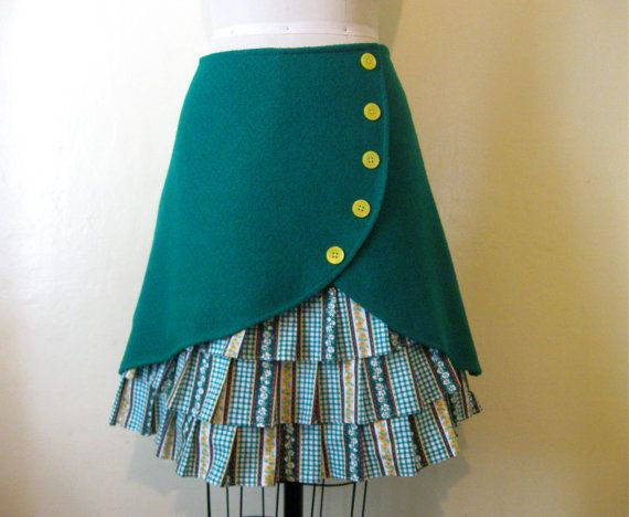 Oopsy Daisy Ruffle-Front Skirt by LoveToLoveYou on Etsy