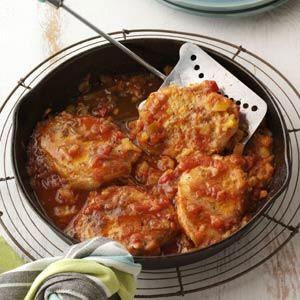 Southwestern Pineapple Pork Chops Recipe from Taste of Home -- shared by Lisa Varner of Charleston, South Carolina