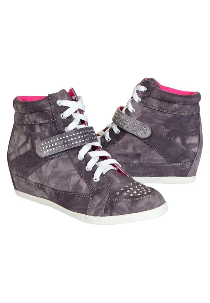 Embellished Wedge Sneakers (original price, $39.90) available at #Justice