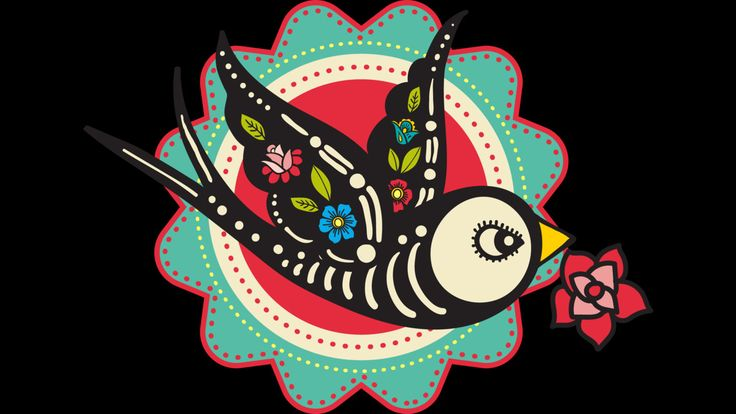The bird of Day of the Dead is a T Shirt designed by belopoppa to illustrate…