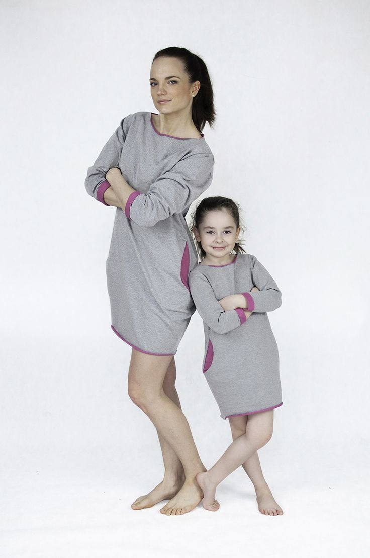 Matching mommy and me matchingoutfits :)  The Same sweatshirt short dress with pink mother daughter set www.thesame.eu