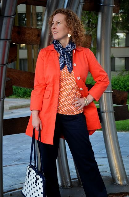 Orange and Navy, DYT Type 1 http://www.acolourfulcanvas.com/2013/05/on-navy-train.html