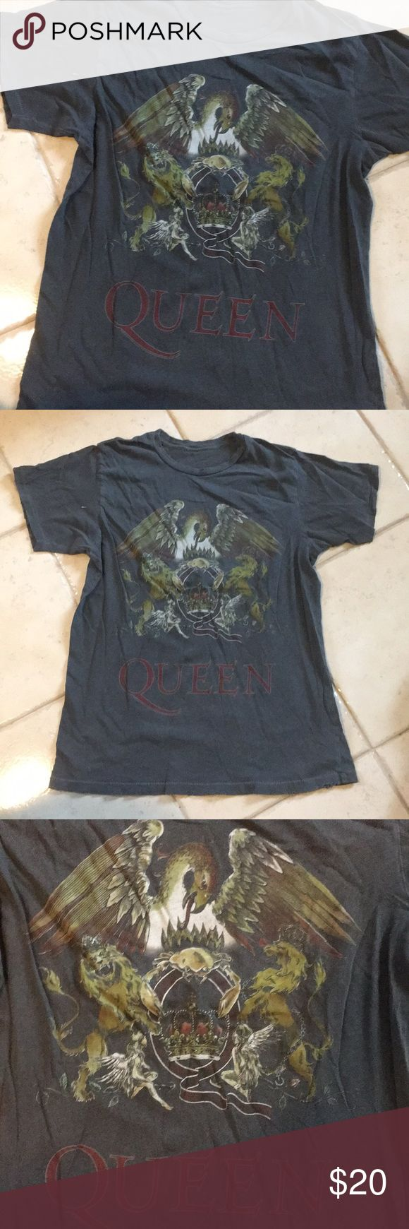 Distressed queen rock band tee shirt Worn and tag has been removed. Distressed edges. Very soft shirt. Small to Medium fit Shirts Tees - Short Sleeve