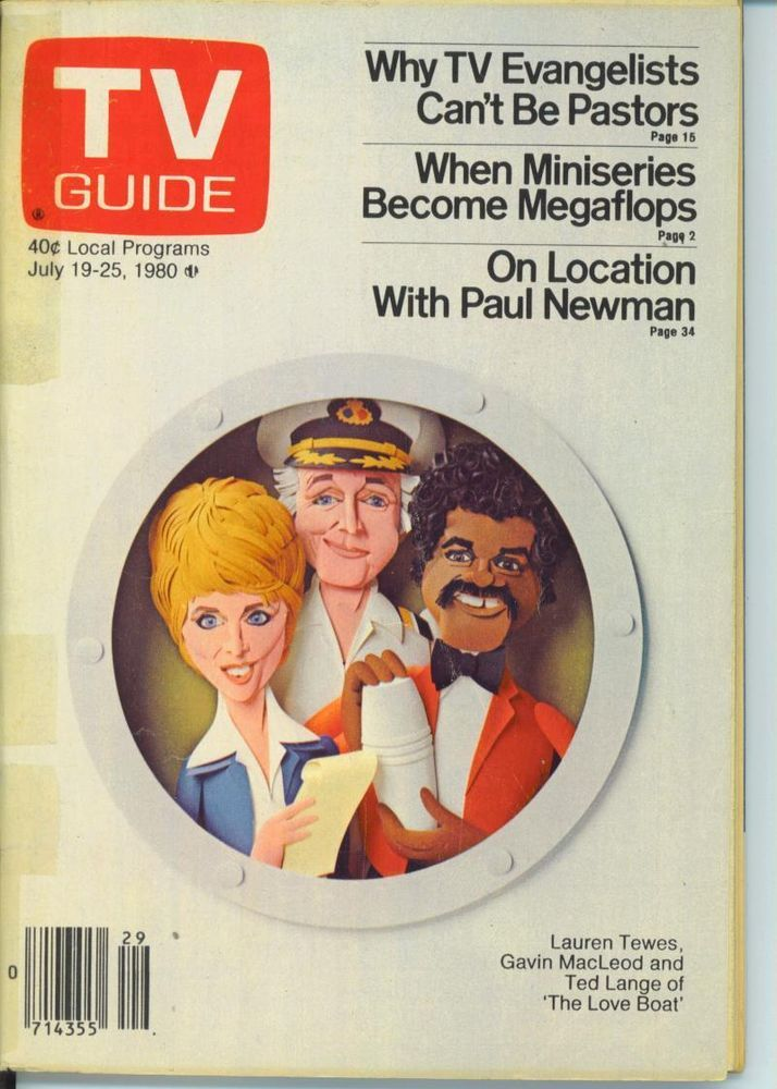 CHICAGO TV GUIDE 7-19-1980 RON MOODY~PAUL NEWMAN~TED LANGE~MINISERIES as FLOPS