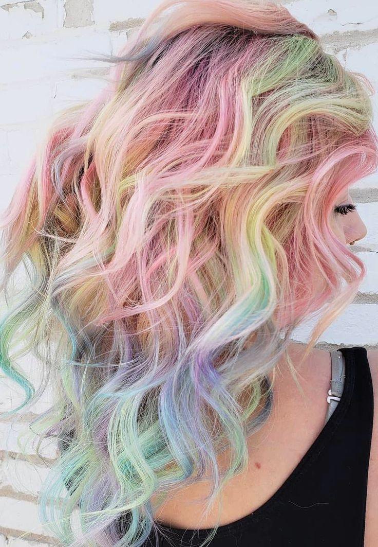50+ Trendy Hair Colors Ideas in 2019 Vivid hair color