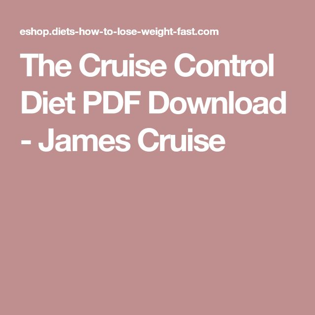 The Cruise Control Diet PDF Download - James Cruise