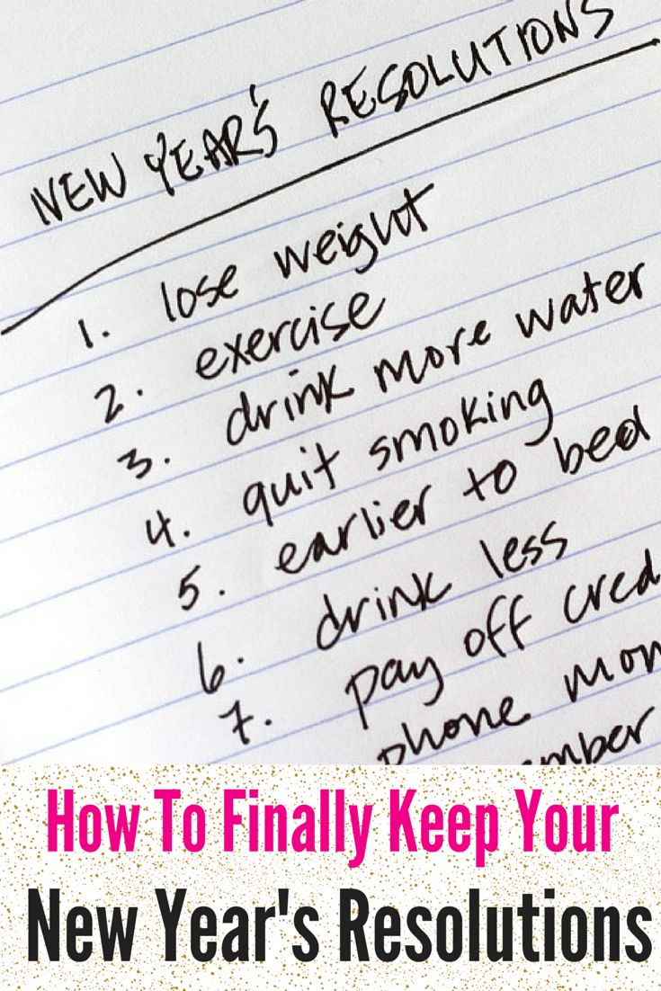 Essays about new year's resolution