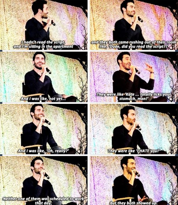 Hahahahahaha this does not amaze me! Tyler Hoechlin discussing Teen Wolf script (Dylan and Tyler P mentioned!)