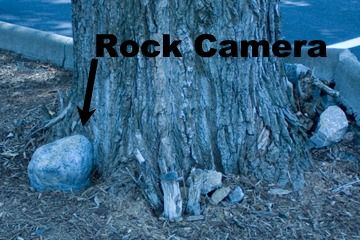 Rock Hidden Video Security Camera Outdoor Motion Activated Battery ...
