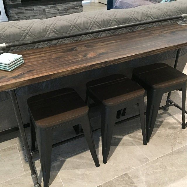 Gorgeous Sofa Table Made By Brandon Built On Etsy In 2020 Wood Sofa Table Wooden Sofa Wood Bar Table