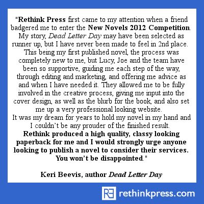 "Keri Beevis, author ""Dead Letter Day"""