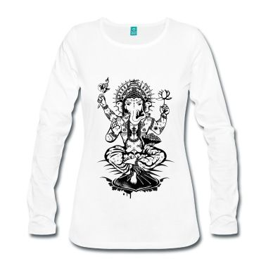 Ganesha ein Gott mit Elefantenkopf Eine Ganesha Zeichnung   Ganesha mit einer Lotusblüte,einer Axt,und einer Schale mit Laddus