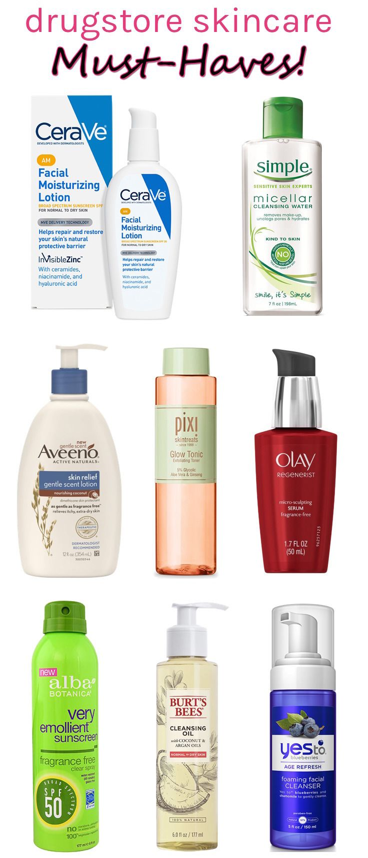 Looking for spectacular skincare finds at affordable prices? Click through for 8 tried & tested drugstore skincare must-haves that clock in at less than $20!