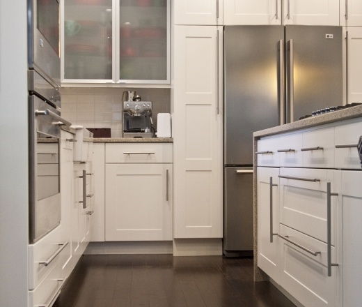 Contemporary Galley Style Kitchen, Cabinets, $20,000