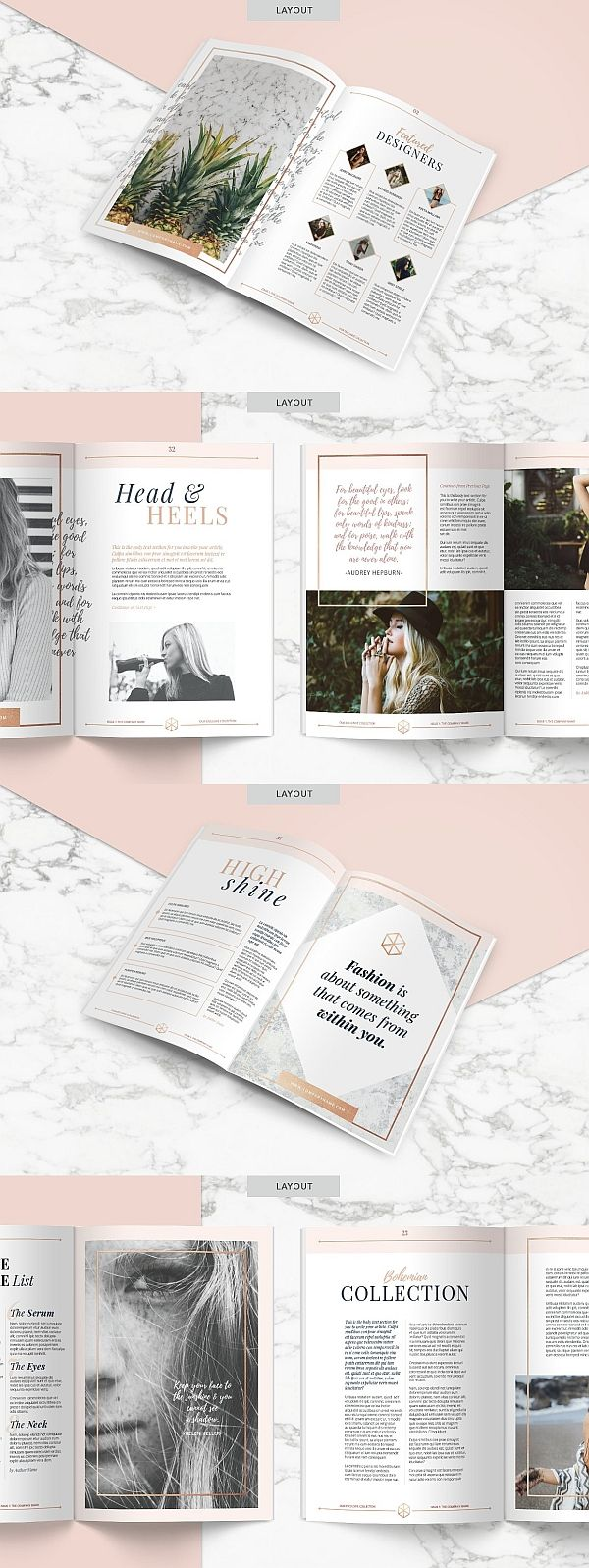 ROSE GOLD Magazine | Indd & Psd – TYPOgrafie
