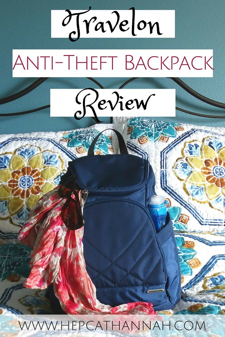 Travelon Anti-Theft Backpack Review by @HepcatHannah #travel #wanderlust…