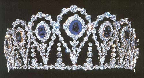 Sapphire and diamond tiara of the Marquesses of La Motilla