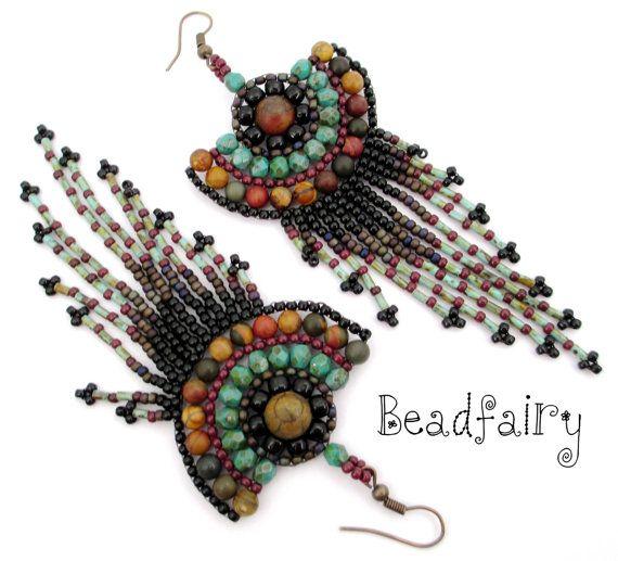 Earth Harmony Earrings by BeadfairyStore on Etsy