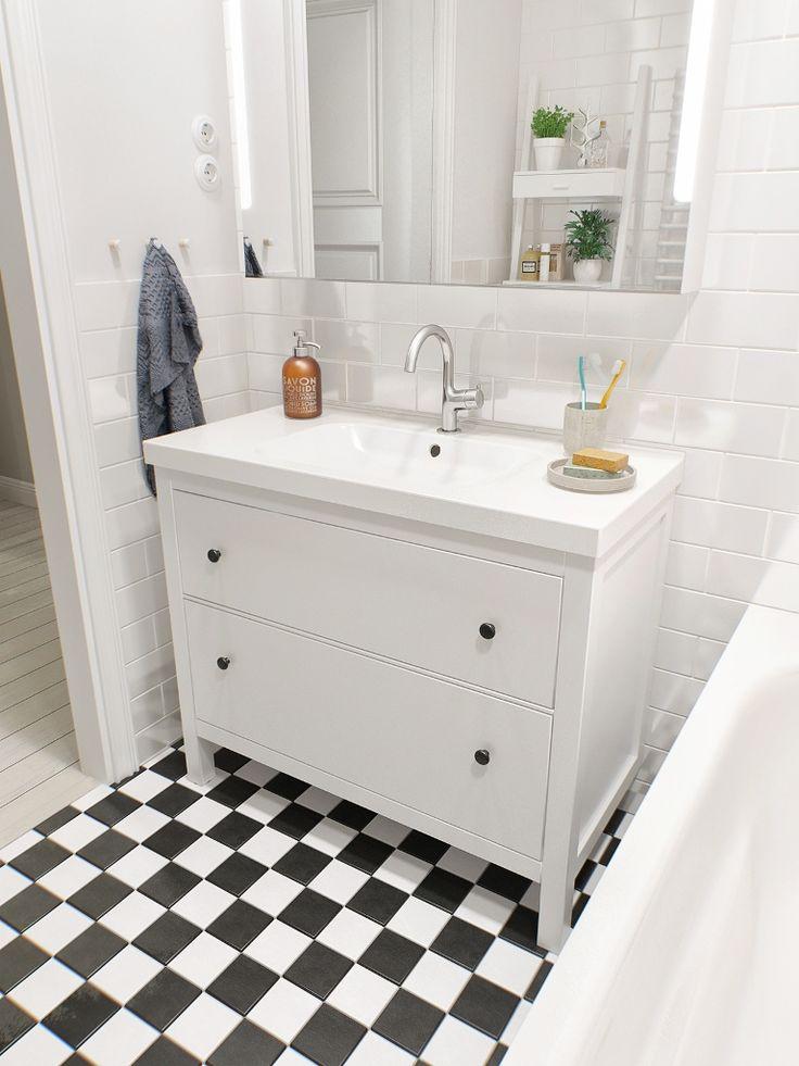 Black and white bathroom floor tile designs
