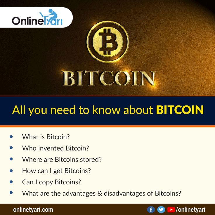 बिटकॉइन के बारे में जानने योग्य महत्वपूर्ण बातें  जानिये हमारे ब्लॉग में: http://hindiblog.onlinetyari.com/government-exam/bitcoin-important-pointers-in-hindi?utm_content=buffer4f088&utm_medium=social&utm_source=pinterest.com&utm_campaign=buffer #bitcoin #onlinetyari #tyarikaro