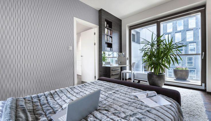 Stunning, modern geometric wallpaper.