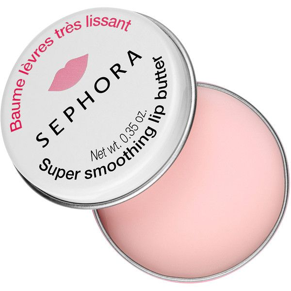 SEPHORA COLLECTION Super smoothing lip butter (£5.20) ❤ liked on Polyvore featuring beauty products, skincare, lip care, lip treatments, makeup, beauty, fillers, lips, lip balm and sephora collection
