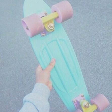 Pastel Penny Board♥ I Kinda Wanna Get A Custom One But Im Scared Incase I Dont Like the Way It Turns Out and It Costs Alottt! Still Want One Though☺♥