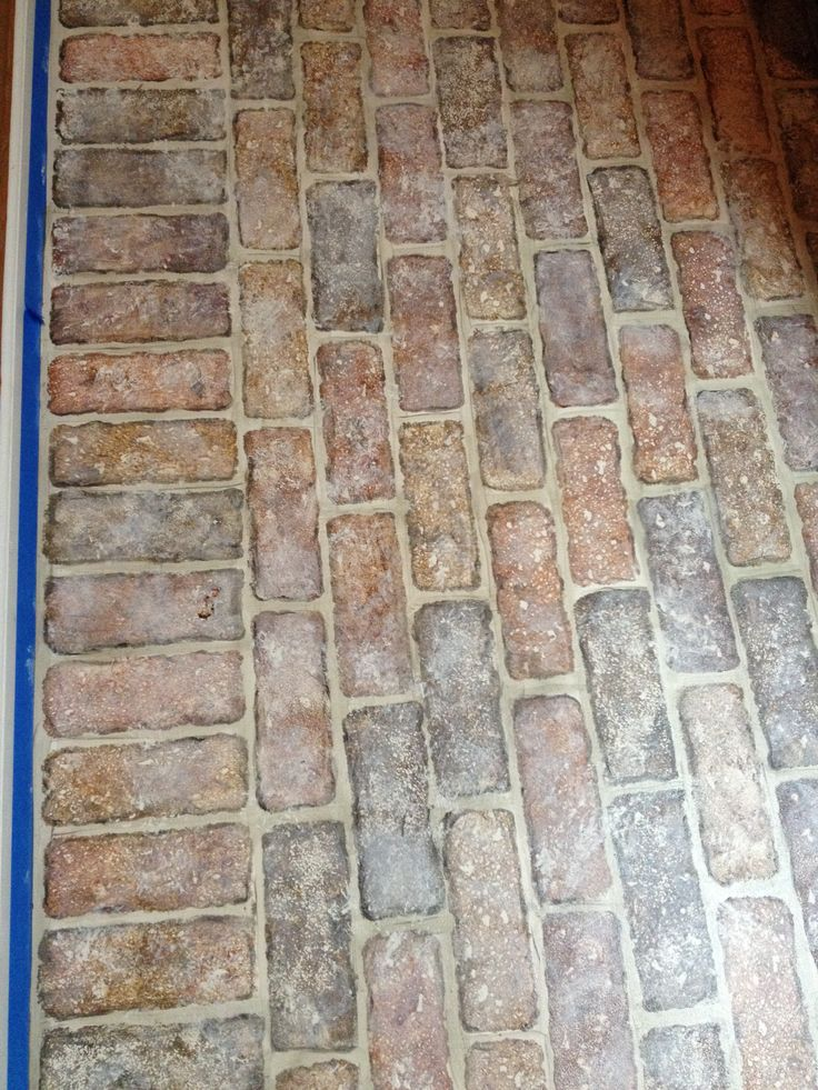 24 best images about faux brick floors on pinterest for Fake tile floor