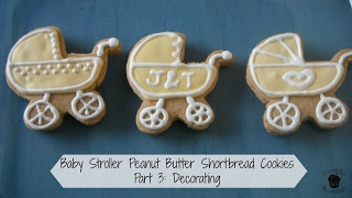 Baby Stroller Peanut Butter Shortbread Cookies - Part 3: Decorating
