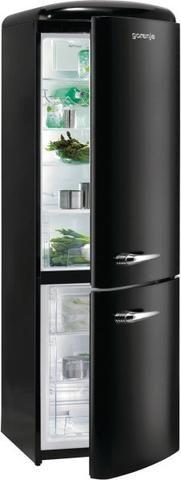Gorenje RK60359OBK Black Retro 60cm A++ Fridge Freezer NEW 5 Yrs Wty