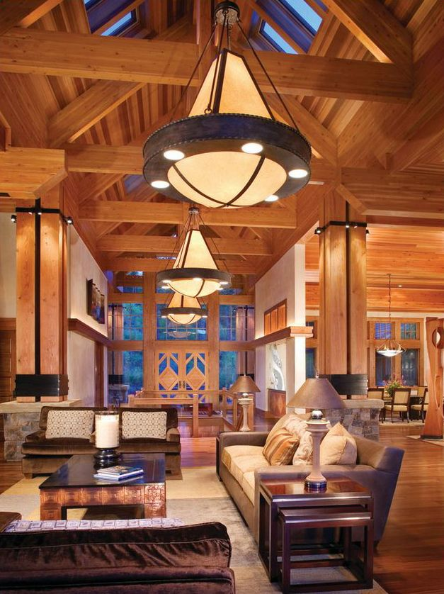 How About These Light Fixtures For The Old Lodge?   Canadian Log Homes