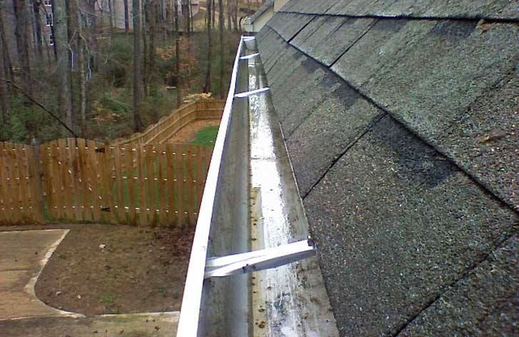 The exterior of your gutters and downspouts are more than a minor detail. These areas are often overlooked, but you will be amazed at the dramatic difference clean, hand-scrubbed gutters and downspouts can make towards the overall beauty and curb appeal of your home's exterior. We also clean the interiors of your gutters. Not cleaning the interior of your gutters can cause leaves and debris to build up. If negelcted, this build up can cause significant water damage to your home.