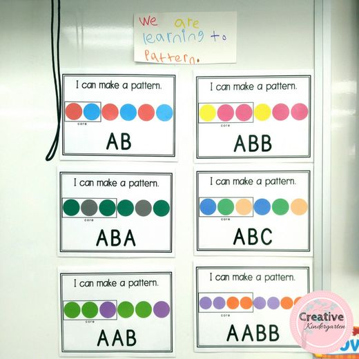 **FREEBIE ** I can posters for patterning in kindergarten.