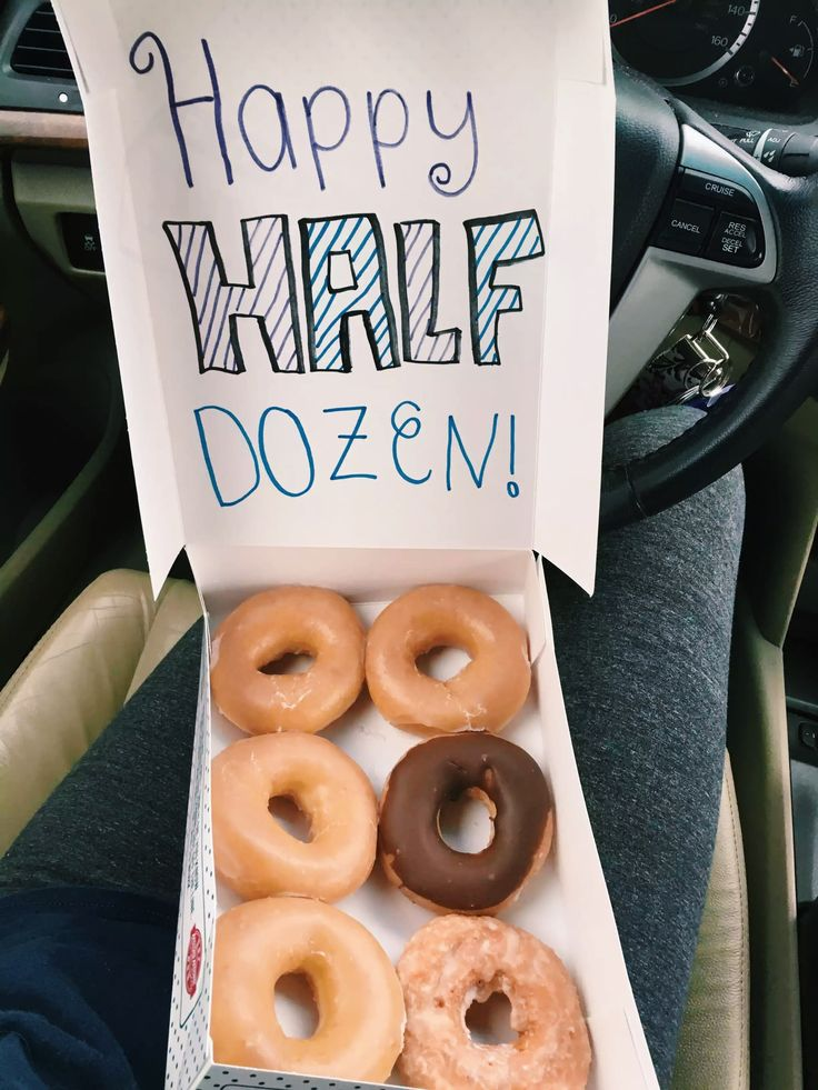 6 Month Anniversary Idea  #love #6months #anniversary #donuts #anniversaryideas #ideas #diy