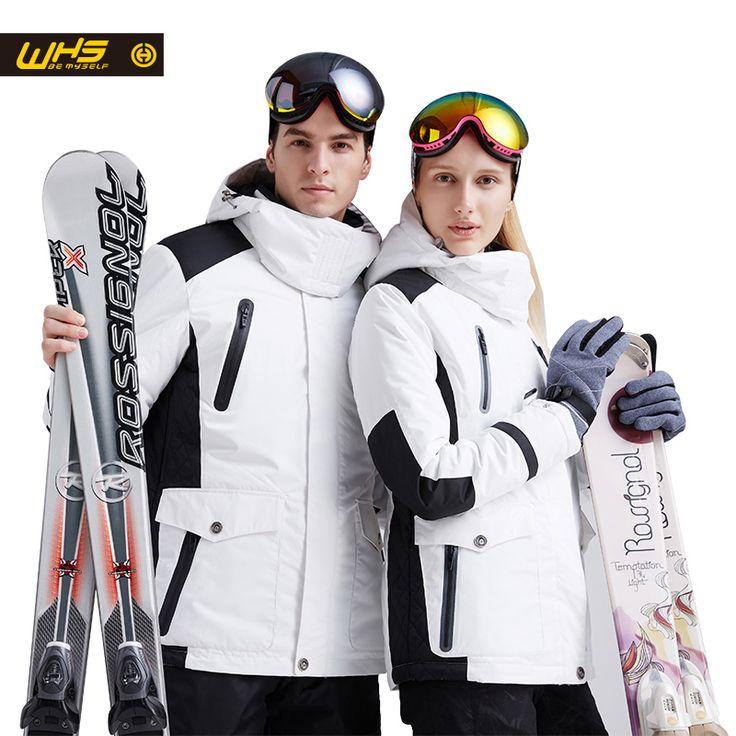 Whs nueva pareja chaqueta de esquí de invierno al aire libre nieve de algodón ropa deportiva de las mujeres y hombres de la capa caliente impermeable ya prueba de viento en Chaquetas de esquí de Deportes y Entretenimiento en AliExpress.com | Alibaba Group