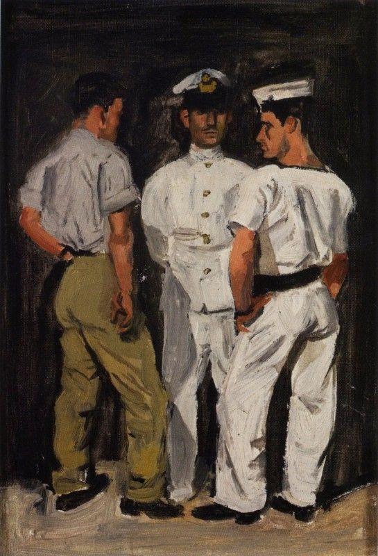 Γιάννης Τσαρούχης 1954. Ιδιωτική συλλογή.Tsarouchis Yiannis 1954