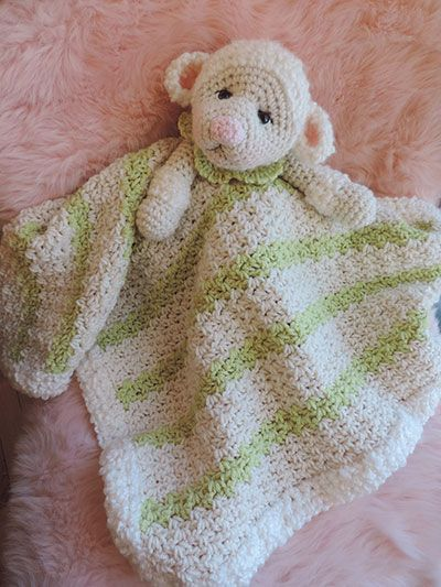 Lamb Huggy Blanket pattern download from Annies. Order ...