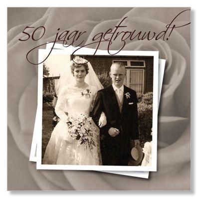 50 jaar getrouwd - uitnodiging Suede design ©