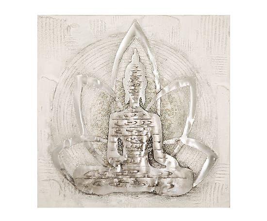 "Nástěnná dekorace ""Buddha Lotus"", 80 x 3 x 80 cm"
