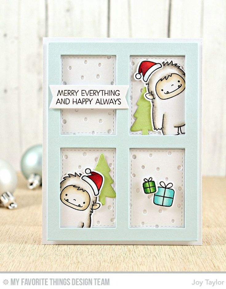 Beast Friends Stamp Set and Die-namics, Merry Everything Stamp Set, Snowfall - Vertical Die-namics, Gift Box Cover-Up Die-namics, Blueprints 27 Die-namics - Joy Taylor  #mftstamps