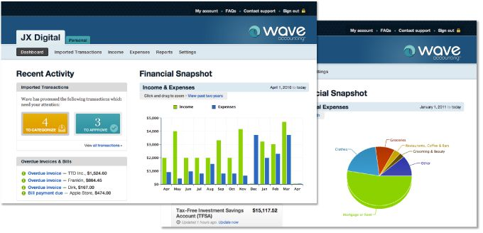Wave Accounting...free accounting software for small businesses.