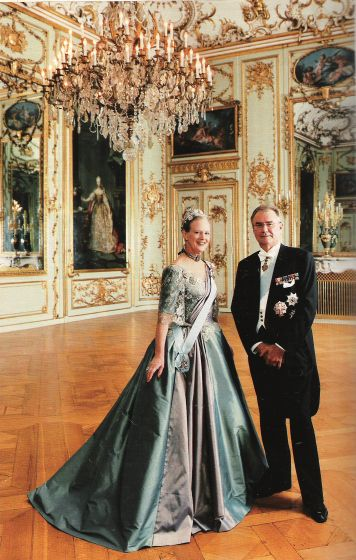The #Danish Queen Margrethe II of Denmark with Prince Henrik #danishroyals