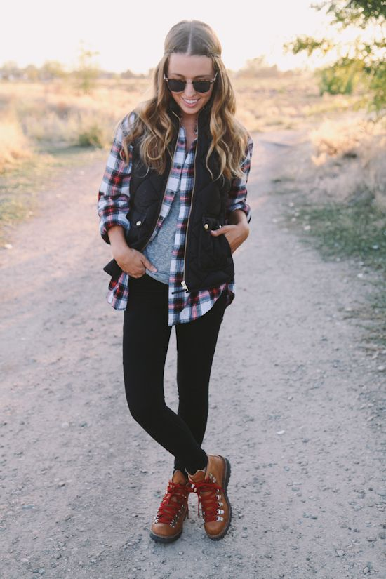 All of my girly fall lumberjack dreams in one amazing outfit. Kuddos Sydney!