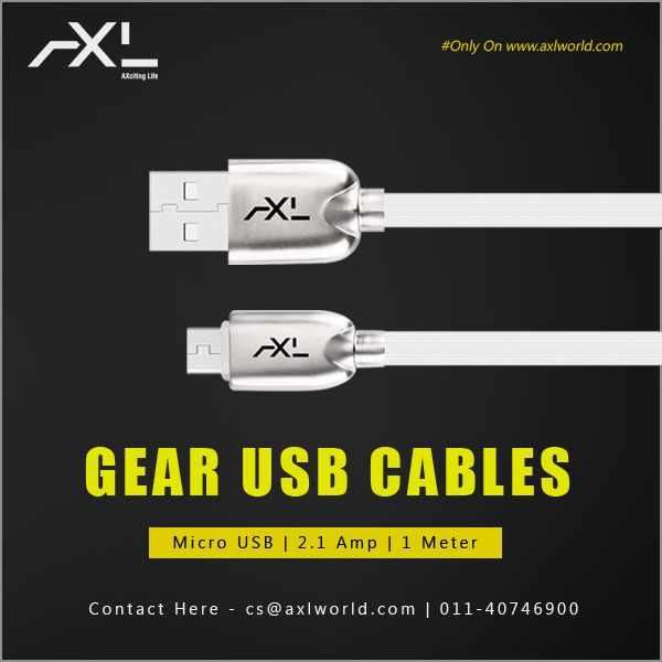 Gear Micro Usb Cable Having 2 1amp Output Weight Is 50g And It Is Having 6 Months Replacement Usb Cables Micro Usb Powerbank